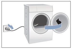Cambiar sentido puerta secadora Bosch
