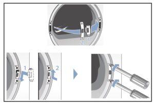 atornillar puerta Cambiar sentido puerta secadora Bosch