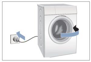 Conectar la secadora Cambiar sentido puerta secadora Bosch