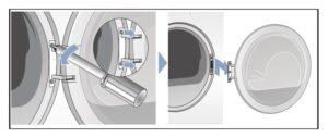 Quitar tornillos, Cambiar sentido puerta secadora Bosch