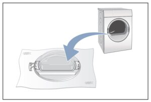 Colocar puerta, Cambiar sentido puerta secadora Bosch