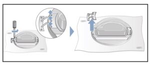 Quitar tornillos puerta, Cambiar sentido puerta secadora Bosch