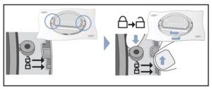 desbloquear cristal Cambiar sentido puerta secadora Bosch