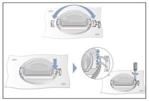 colocar visagra Cambiar sentido puerta secadora Bosch